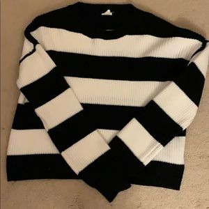 Crop knit, stripped sweater